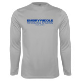Performance Platinum Longsleeve Shirt-Embry Riddle Worldwide