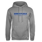 Russell DriPower Grey Fleece Hoodie-Embry Riddle Worldwide