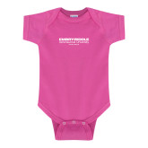 Fuchsia Infant Onesie-Embry Riddle Worldwide