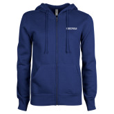 ENZA Ladies Royal Fleece Full Zip Hoodie-Embry Riddle Aeronautical University