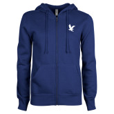 ENZA Ladies Royal Fleece Full Zip Hoodie-Eagle