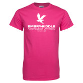 Cyber Pink T Shirt-Worldwide Stacked w/ Eagle