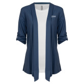 Ladies Navy Drape Front Cardigan-Embry Riddle Worldwide