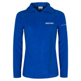 Columbia Ladies Half Zip Royal Fleece Jacket-Embry Riddle Aeronautical University