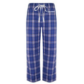 Royal/White Flannel Pajama Pant-Embry Riddle Aeronautical University