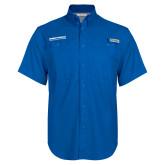 Columbia Bonehead Royal Short Sleeve Shirt-Embry Riddle Aeronautical University