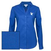 Ladies Red House Diamond Dobby Royal Long Sleeve Shirt-Eagle