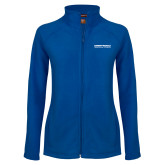 Ladies Fleece Full Zip Royal Jacket-Embry Riddle Aeronautical University