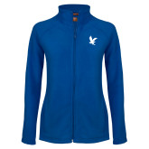 Ladies Fleece Full Zip Royal Jacket-Eagle