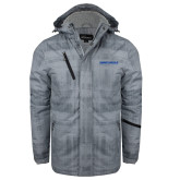 Grey Brushstroke Print Insulated Jacket-Embry Riddle Aeronautical University
