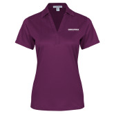 Ladies Purple Performance Fine Jacquard Polo-Embry Riddle Aeronautical University