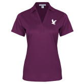 Ladies Purple Performance Fine Jacquard Polo-Eagle