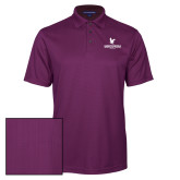 Purple Performance Fine Jacquard Polo-Worldwide Stacked w/ Eagle