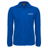 Fleece Full Zip Royal Jacket-Embry Riddle Aeronautical University