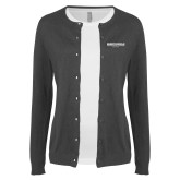 Ladies Charcoal Cardigan-Embry Riddle Worldwide