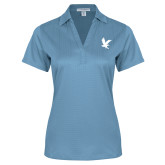 Ladies Light Blue Performance Fine Jacquard Polo-Eagle