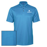 Light Blue Performance Fine Jacquard Polo-Worldwide Stacked w/ Eagle