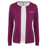 Ladies Deep Berry Cardigan-Embry Riddle Worldwide