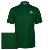 Dark Green Performance Fine Jacquard Polo-Worldwide Stacked w/ Eagle