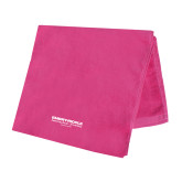 Pink Beach Towel-Embry Riddle Worldwide