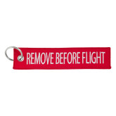 Remove Before Flight Red Key Tag-