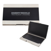 Bey Berk Carbon Fiber Business Card Holder-Embry Riddle Aeronautical University  Engraved