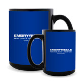 Full Color Black Mug 15oz-Embry Riddle Worldwide