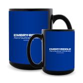Full Color Black Mug 15oz-Embry Riddle Worldwide