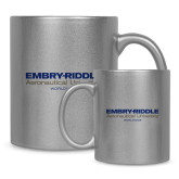 Full Color Silver Metallic Mug 11oz-Embry Riddle Worldwide
