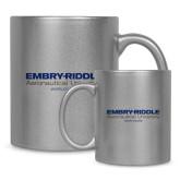 Full Color Silver Metallic Mug 11oz-Embry Riddle Worldwide