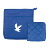 Quilted Canvas Royal Pot Holder-Eagle