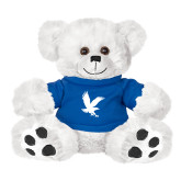 Plush Big Paw 8 1/2 inch White Bear w/Royal Shirt-Eagle