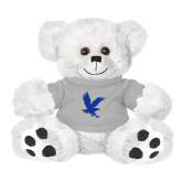 Plush Big Paw 8 1/2 inch White Bear w/Grey Shirt-Eagle