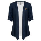 Ladies Navy Shrug-