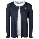 Ladies Navy Scoop T-Shirt-