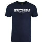 Navy ERAU T Shirt-
