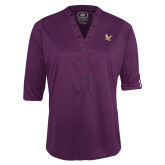 Ladies Purple Ogio 3/4 Sleeve Henley-
