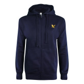 Navy Full Zip Sweatshirt-