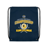 Navy Drawstring Backpack-2017 Southern Conference Championship - Mens Golf