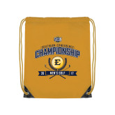 Gold Drawstring Backpack-2017 Southern Conference Championship - Mens Golf