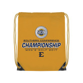 Gold Drawstring Backpack-Southern Conference Championship - Mens Golf 2017