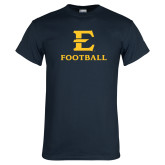 Navy T Shirt-E Football