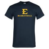 Navy T Shirt-E Basketball