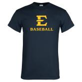 Navy T Shirt-E Baseball