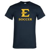 Navy T Shirt-E Soccer