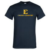 Navy T Shirt-E Cross Country
