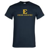 Navy T Shirt-E Cross Country