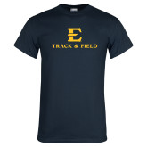 Navy T Shirt-E Track and Field