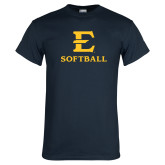 Navy T Shirt-E Softball