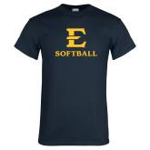 Navy T Shirt-E Softball